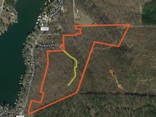 Acreage Nearby Badin Lake Nc : New London : Montgomery County : North Carolina