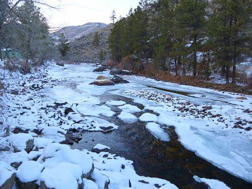 Poudre River Frontage : Bellvue : Larimer County : Colorado