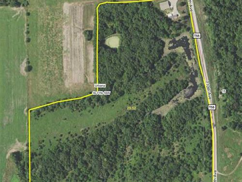28.5 Acres M/L Land For Sale in Mo : Blakesburg : Monroe County : Iowa