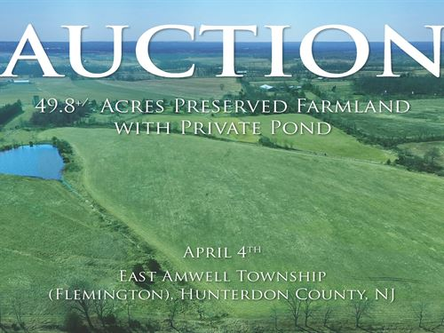 49.8 Acres Preserved Farmland : Flemington : Hunterdon County : New Jersey