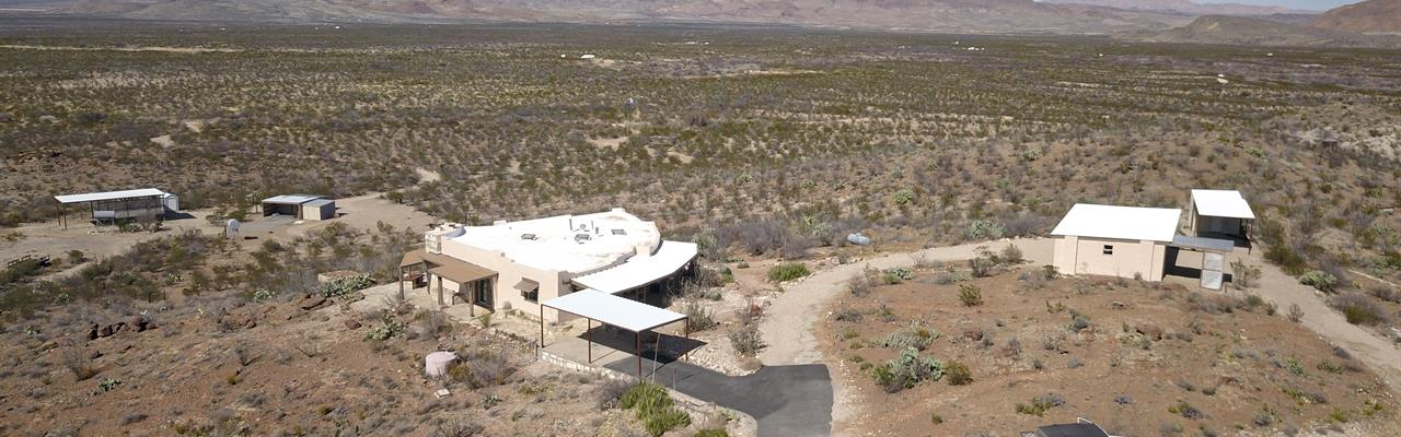 Custom Adobe Home On 200 Acres : Alpine : Brewster County : Texas
