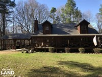 Rustic, Country Home With 138 Acres : Coxburg : Holmes County : Mississippi
