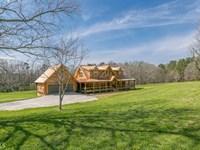 Custom Built Log Home On 10 Acres : Monroe : Walton County : Georgia
