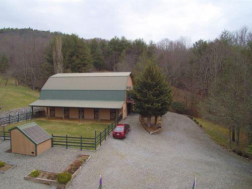 Blue Ridge Mountain Mini-Farm : Mouth Of Wilson : Grayson County : Virginia