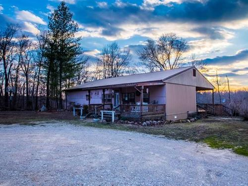 Home on 6.39 Acres For Sale in Wap : Wappapello : Wayne County : Missouri