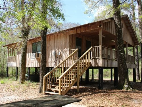 Rustic Cabin On 236 Acres In Pearl : Poplarville : Pearl River County : Mississippi