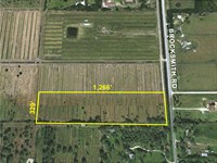 9.56Ac Lot On Paved Road : Fort Pierce : Saint Lucie County : Florida