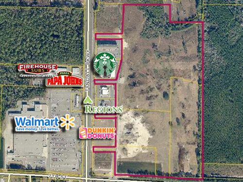 Across From Super Wal-Mart 31+ Acre : Panama City : Bay County : Florida