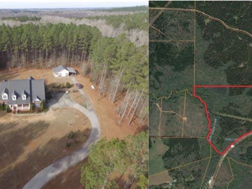 Custom Home An 100 Acres Big Timber : Pine Mountain : Meriwether County : Georgia