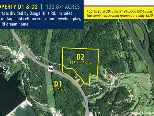 Property D Undeveloped Acreage : Lake Ozark : Miller County : Missouri