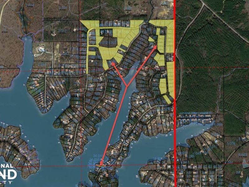 Weiss Lake Lots Investment Opportun : Cedar Bluff : Cherokee County : Alabama