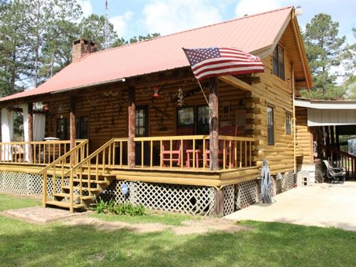 Beautiful Cabin On 40 Acres In Walt : Jayess : Walthall County : Mississippi