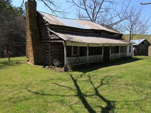 14.7 Acres & Historic Log Structure : Independence : Grayson County : Virginia