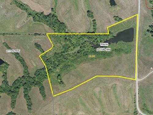 30 Acres in Melrose, IA : Melrose : Monroe County : Iowa