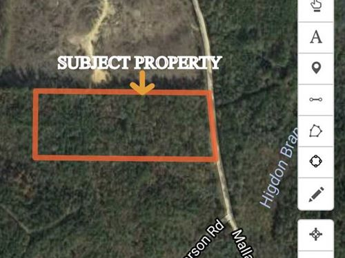 10 Acres Located in North Pick : Palmetto : Pickens County : Alabama