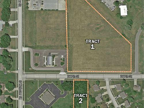 Kansas Commercial Development Land : Spring Hill : Miami County : Kansas