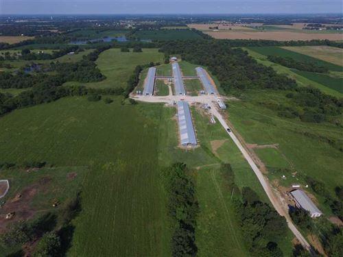 56 Acres With Former Turkey Barns : Webb City : Jasper County : Missouri