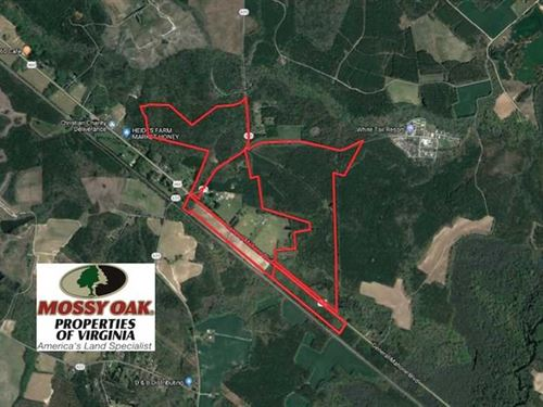 Reduced, 188 Acres Recreational : Ivor : Southampton County : Virginia