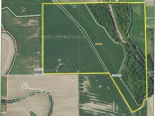 Prime Tillable And Hunting Farm : Mozier : Calhoun County : Illinois