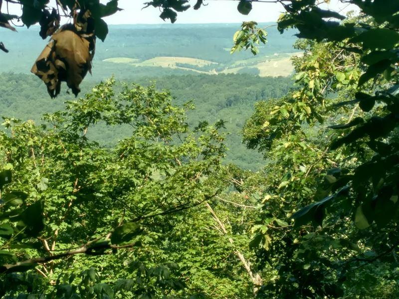 Beautiful Bluff View Home Site : Fort Payne : DeKalb County : Alabama