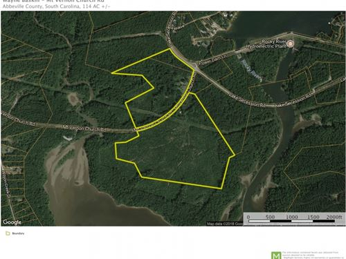 114 Acres On Lake Russell &Iuml : Iva : Abbeville County : South Carolina