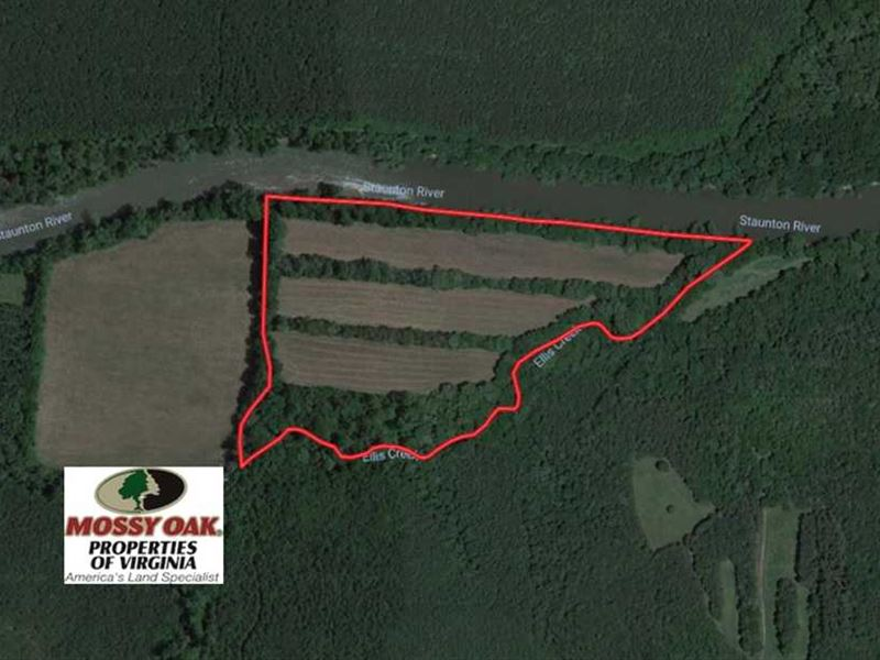 31 Acres of Riverfront Hunting Lan : Halifax : Halifax County : Virginia