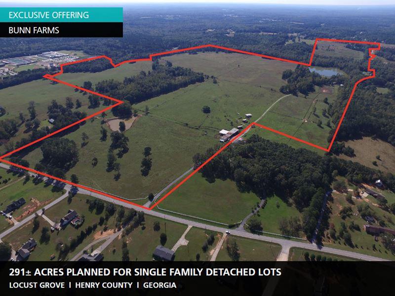 291 Acres Bunn Farms : Locust Grove : Henry County : Georgia
