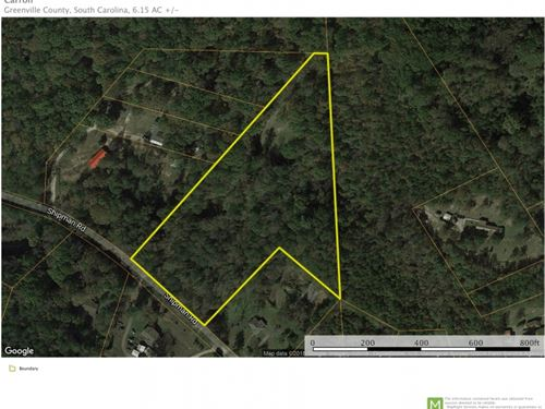 6.15 Unrestricted Acreage Near Trav : Marietta : Greenville County : South Carolina