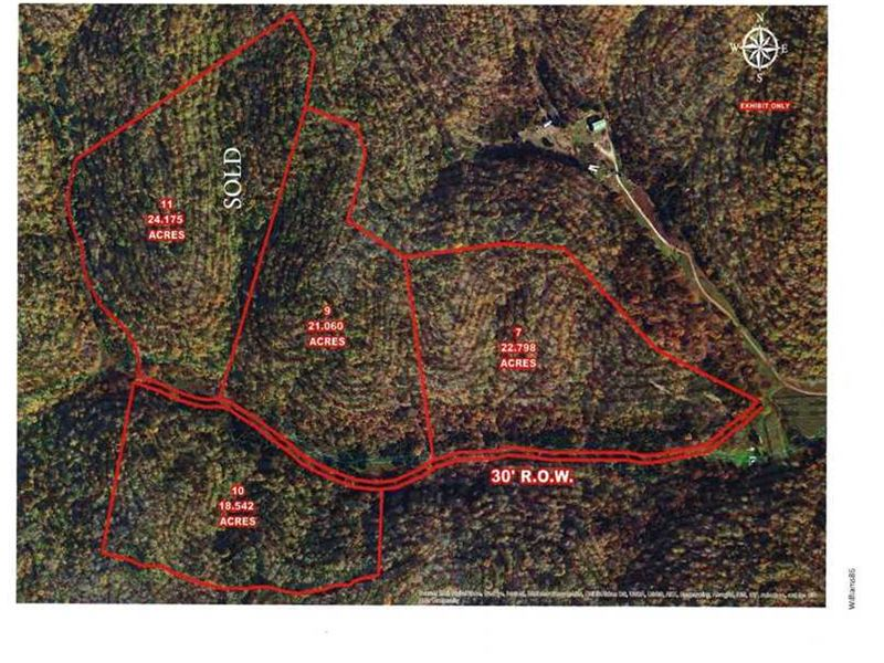 43.858 Acres, Big McFarland Rd : Tompkinsville : Monroe County : Kentucky