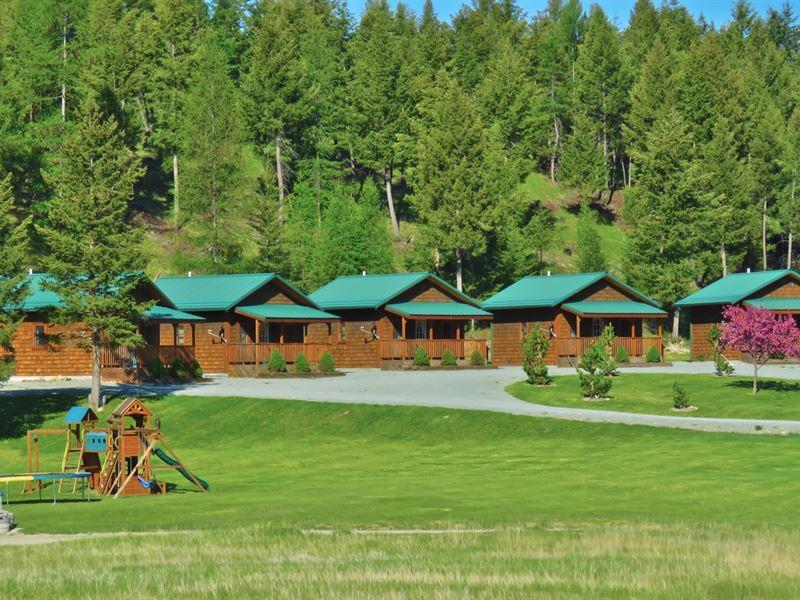 Grave Creek Cabins : Eureka : Lincoln County : Montana