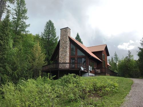 Forested Home On The North Fork : Columbia Falls : Flathead County : Montana