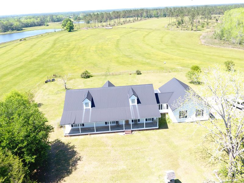 63 +/- Acres W/ Home North Creek Rd : Florala : Covington County : Alabama