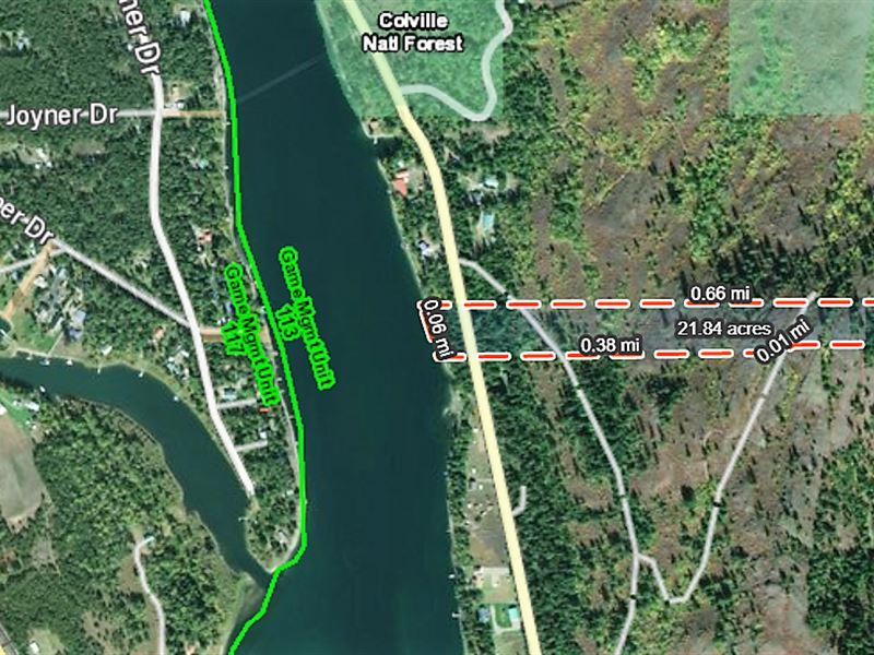 20 Surveyed Riverfront Acres : Ione : Pend Oreille County : Washington