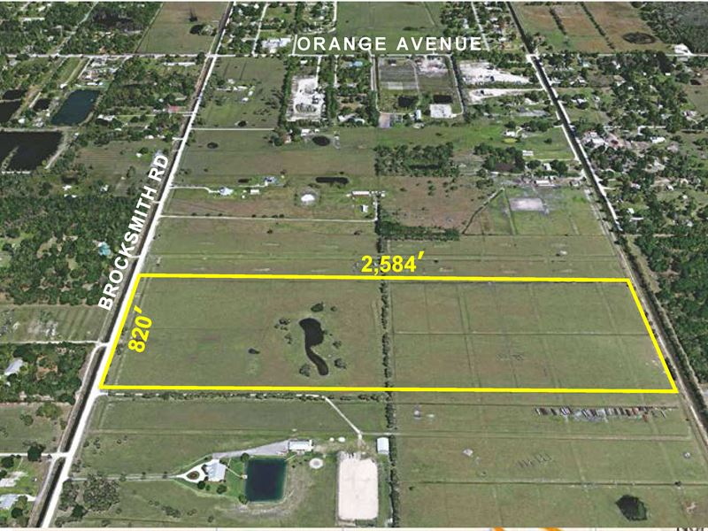 48.7Ac Fenced Pasture : Fort Pierce : Saint Lucie County : Florida