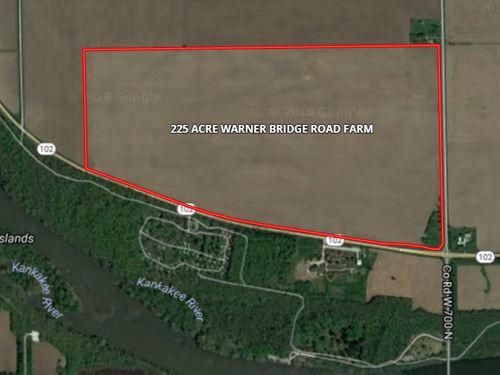 225 Ac Warner Bridge Rd Farm : Willmington : Will County : Illinois
