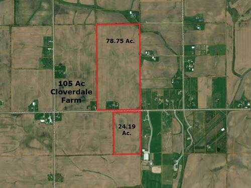 105 Acre Cloverdale Farm : Beecher : Will County : Illinois