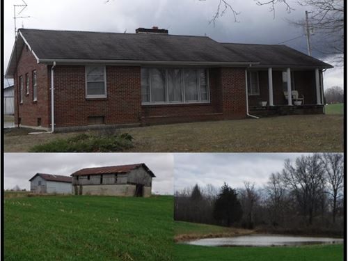 26.47 Ac, Home, Pole Barn, 2 Ponds : Red Boiling Springs : Clay County : Tennessee