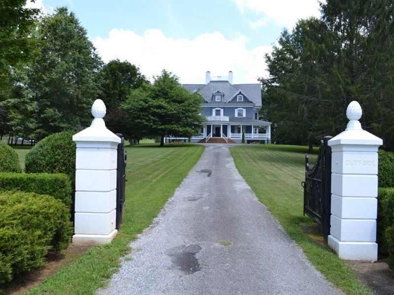 Beautiful Cliffview Mansion : Galax : Carroll County : Virginia
