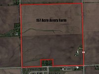 157 Acre Avery Minooka Farm : Minooka : Kendall County : Illinois