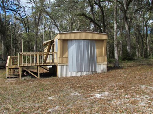2/1 Mh On 5 Acres 775257 : Old Town : Dixie County : Florida