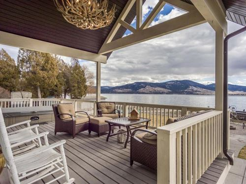 Dayton Lakefront Home : Dayton : Lake County : Montana