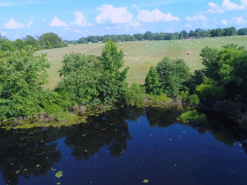 Pasture, Pond, Mountain Views : Belton : Anderson County : South Carolina