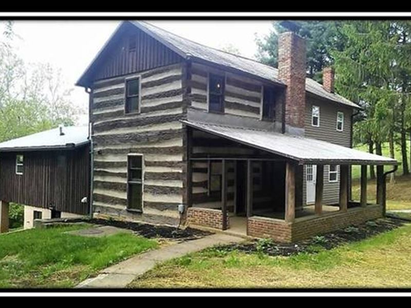 Historic Log Cabin In The Woods Farm For Sale Sugar
