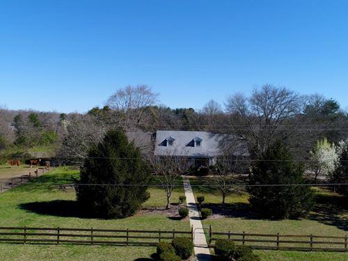 Horses, Pasture, House : Anderson : South Carolina