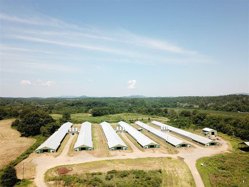 Shiloh Farm, Six Broiler House Farm : Cedartown : Polk County : Georgia