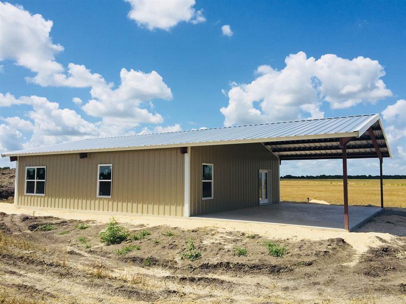 6 Acres With Barndominium Shell Farm For Sale