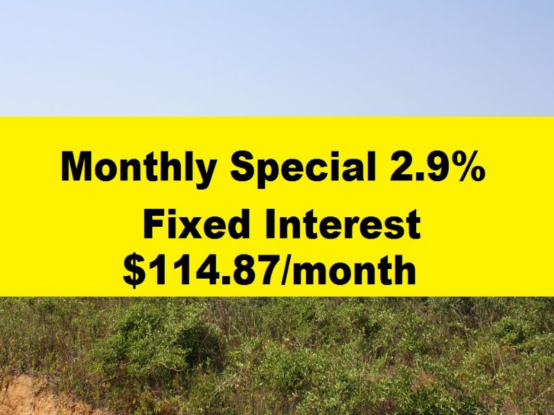Owner Financing Special 2.9% Fixed : Eastman : Dodge County : Georgia
