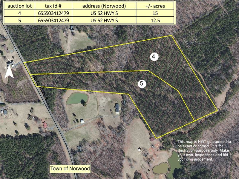 Norwood Nc Map.Highway 52 Norwood Nc Farm For Sale Norwood Stanly County