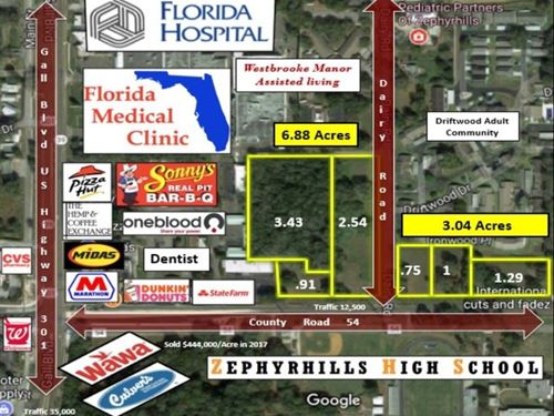 Prime Commercial Parcels : Zephyrhills : Pasco County : Florida