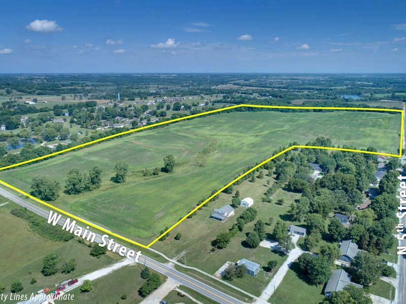 Land Auction 68 Acres 54 Tillable : Cleveland : Cass County : Missouri